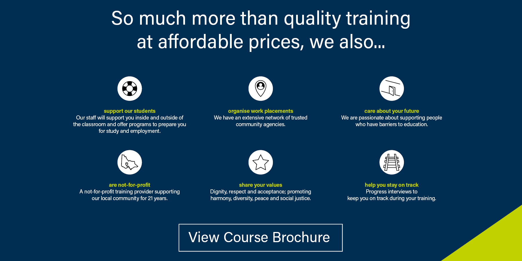 courses Geelong and Colac